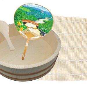 Juego de herramientas de bambú, hangiri