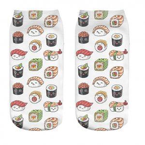 calcetines bajos estampados sushi